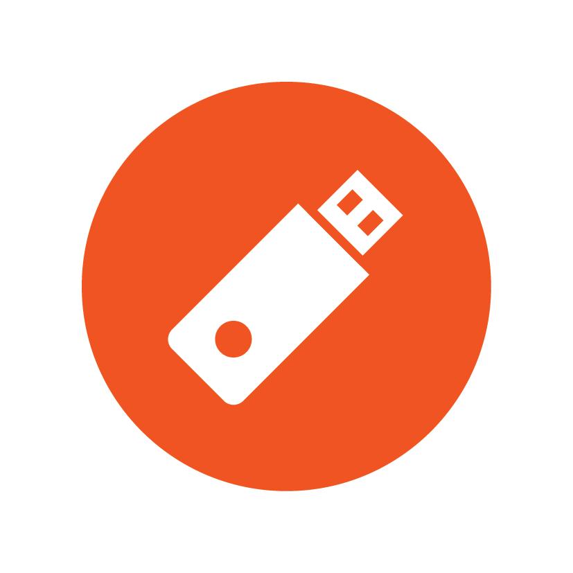 USB 사용한 출력_포트에 USB 삽입 후 외부 메모리로부터 문서 인쇄 버튼 터치로 출력 진행